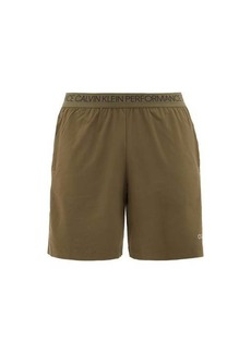 Calvin Klein Performance Logo-waistband jersey training shorts