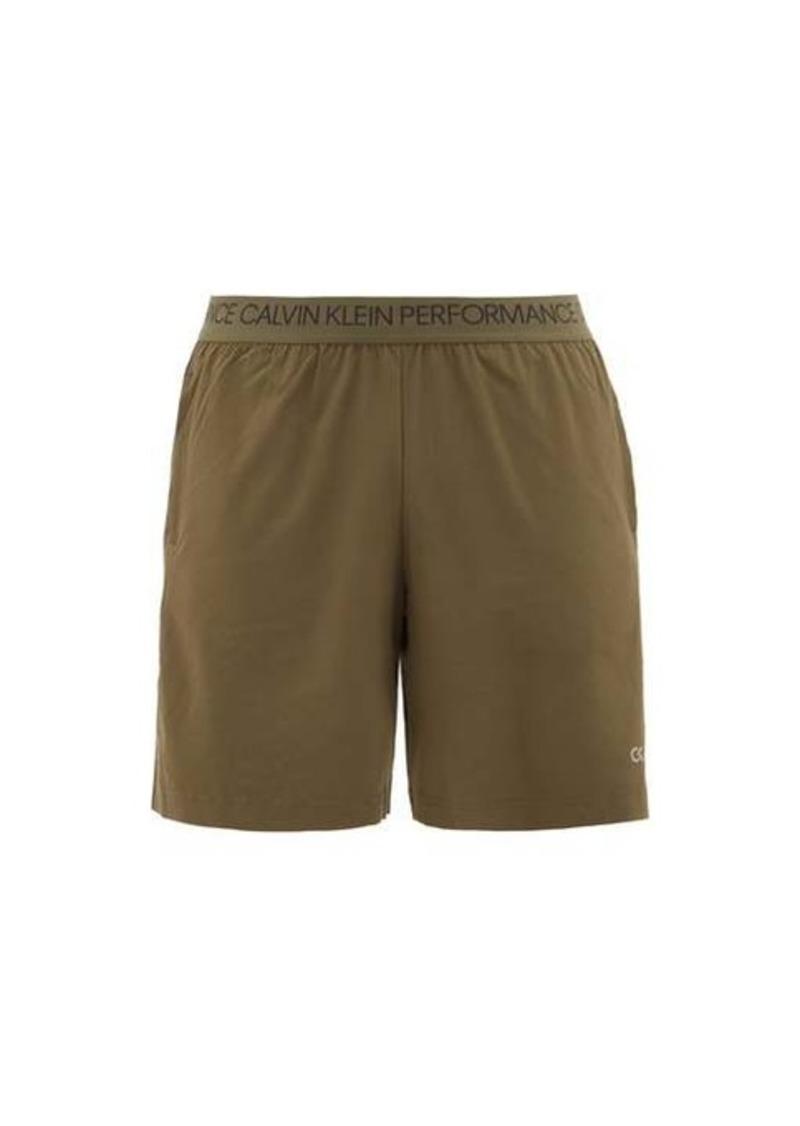 Calvin Klein Performance Logo-waistband jersey training shorts