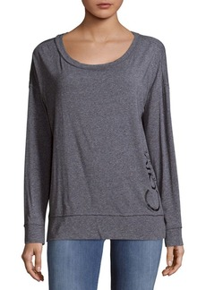 Long-Sleeve Heathered Top