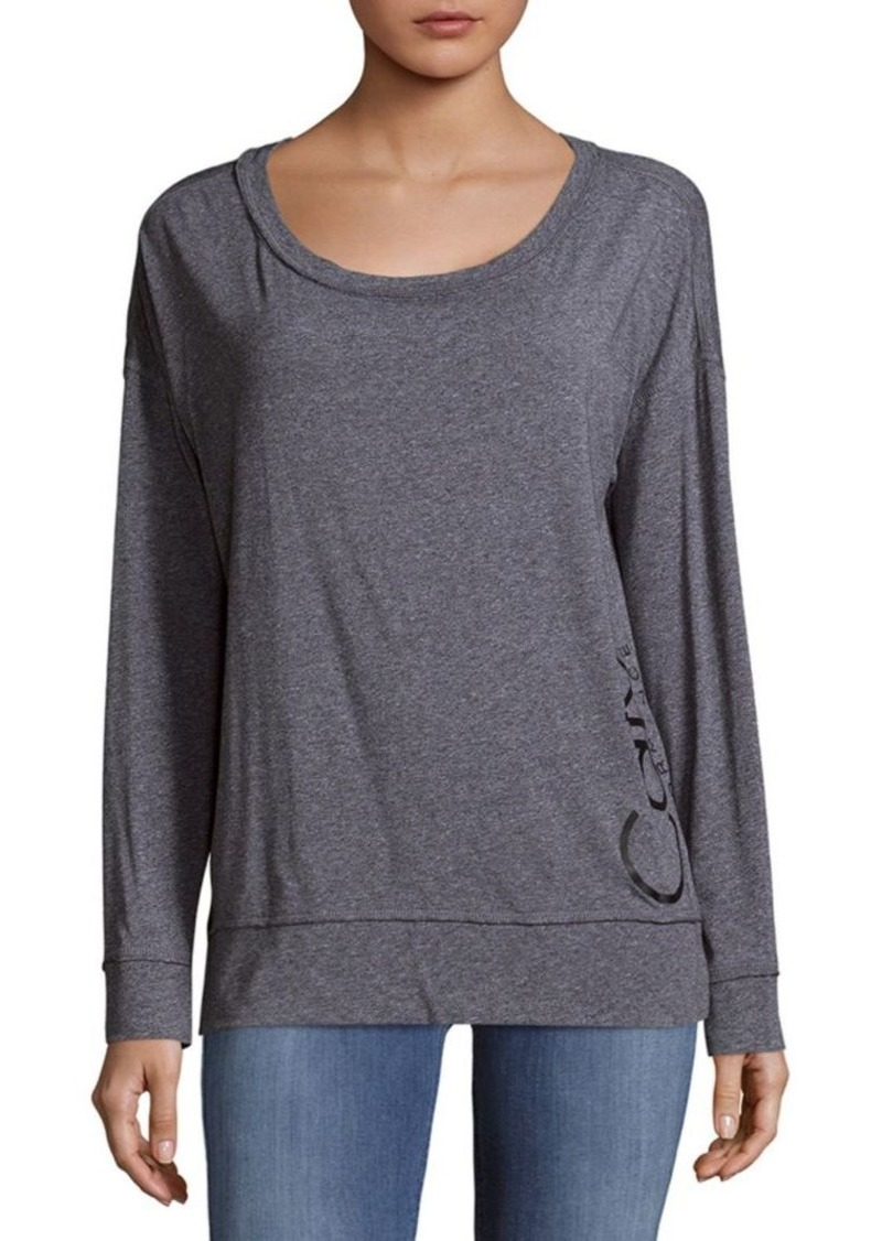 Calvin Klein Long-Sleeve Heathered Top