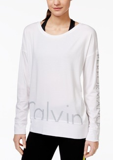Calvin Klein Performance Long-Sleeve Logo Top
