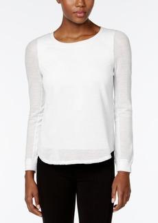 Calvin Klein Performance Long-Sleeve Mesh Top