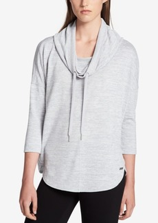 Calvin Klein Performance Marled Cowl-Neck Top