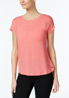 Calvin Klein Performance Marled Keyhole-Back Top
