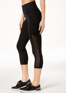 Calvin Klein Performance Mesh-Side High-Rise Cropped Leggings