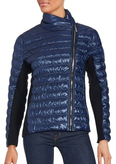 Calvin Klein Performance Metallic Offcenter Zip Jacket