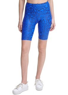 Calvin Klein Performance Metallic-Print High-Waist Bike Shorts