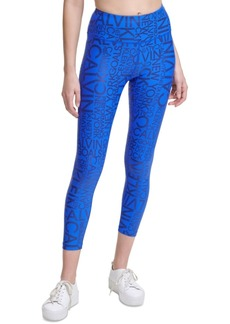 Calvin Klein Performance Metallic-Print High-Waist Leggings