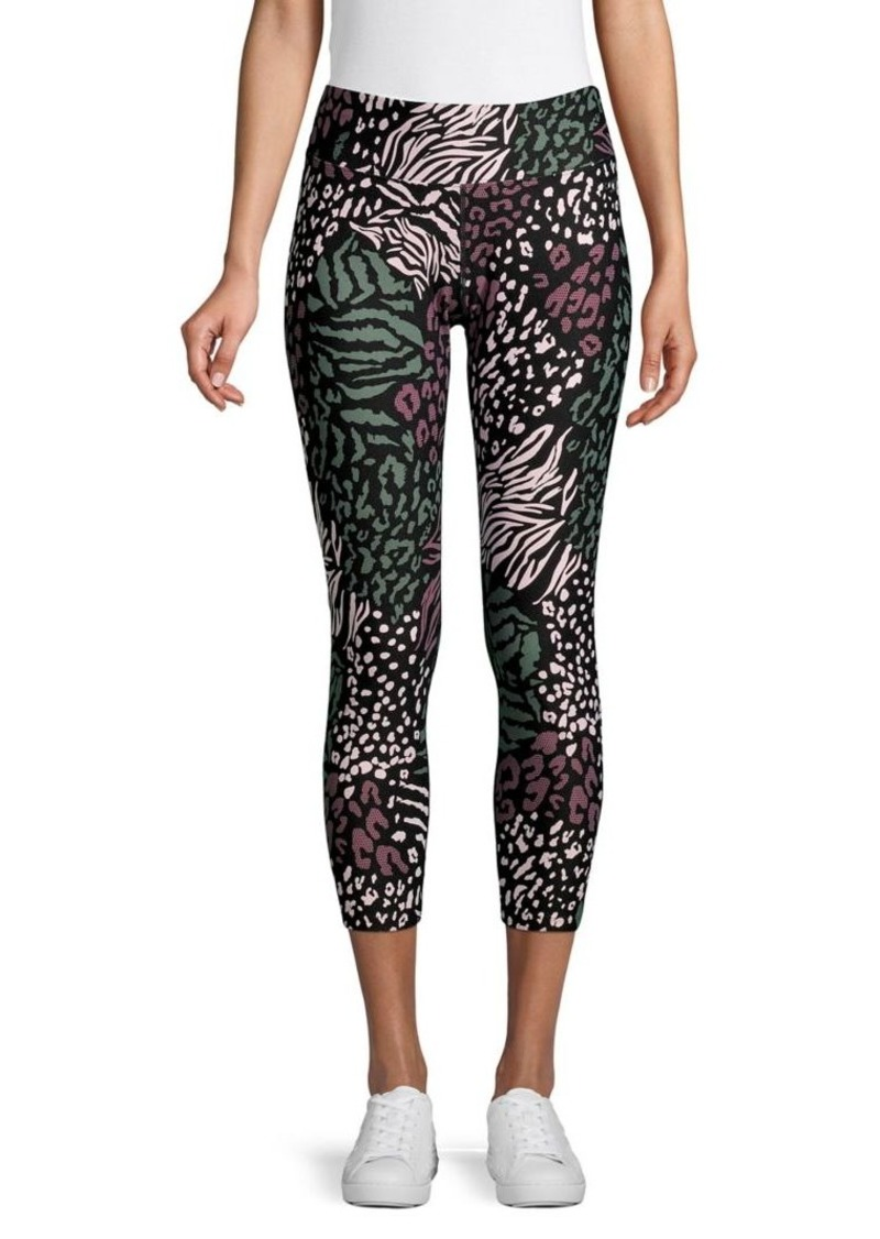 Calvin Klein Performance Mixed-Print Cropped Leggings