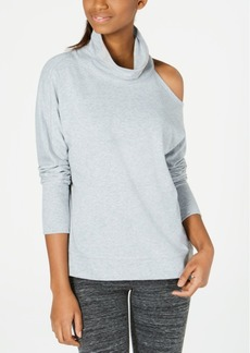 Calvin Klein Performance Mock-Neck Cold-Shoulder Top