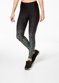 Calvin Klein Performance Ombre Lynx-Print High-Rise Cropped Leggings