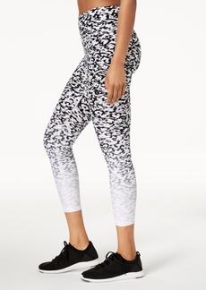 Calvin Klein Performance Ombre Lynx-Print High-Rise Cropped Leggings