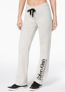 Calvin Klein Performance Open-Leg Fleece Sweatpants