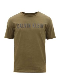 Calvin Klein Performance Performance Logo-print cotton-blend T-shirt