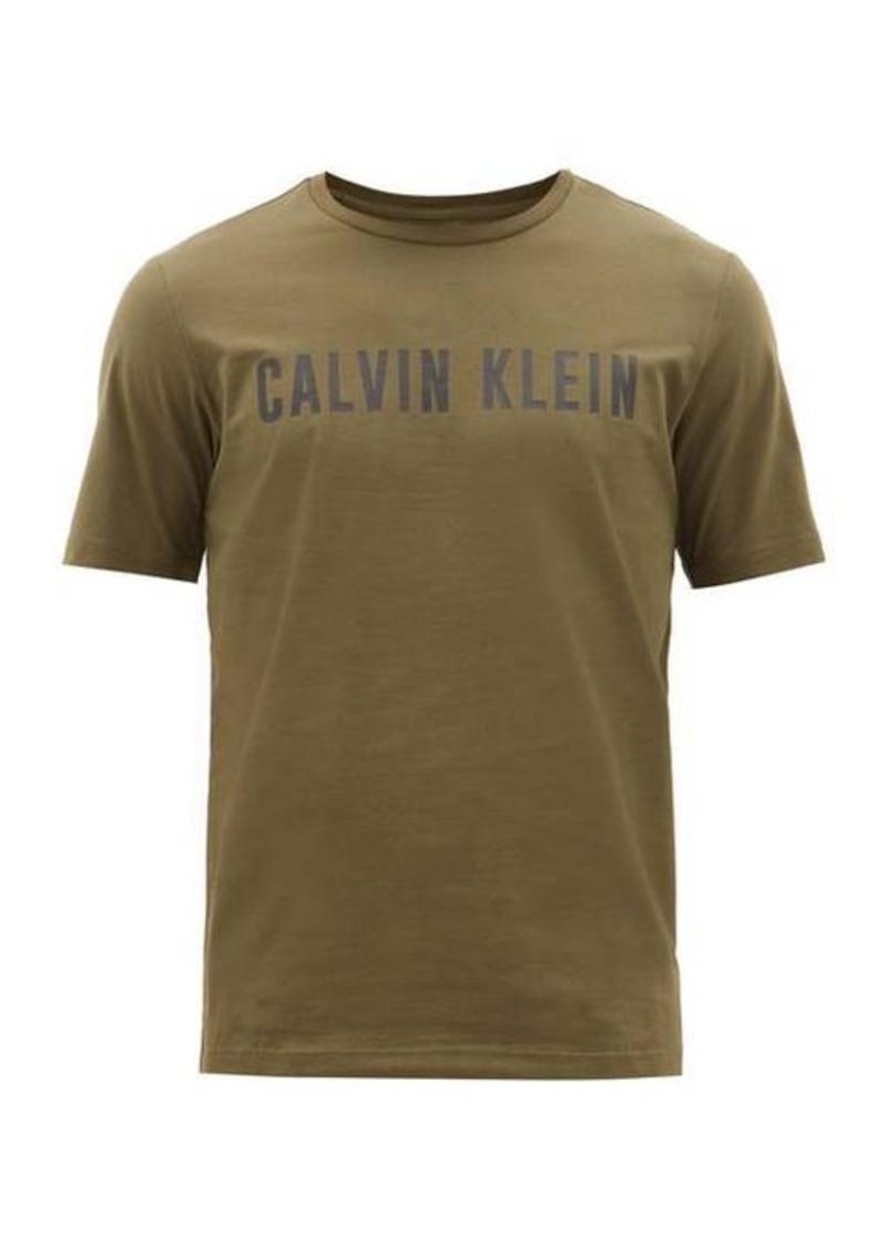 Calvin Klein Performance Performance Logo-print cotton-blend T-shirt
