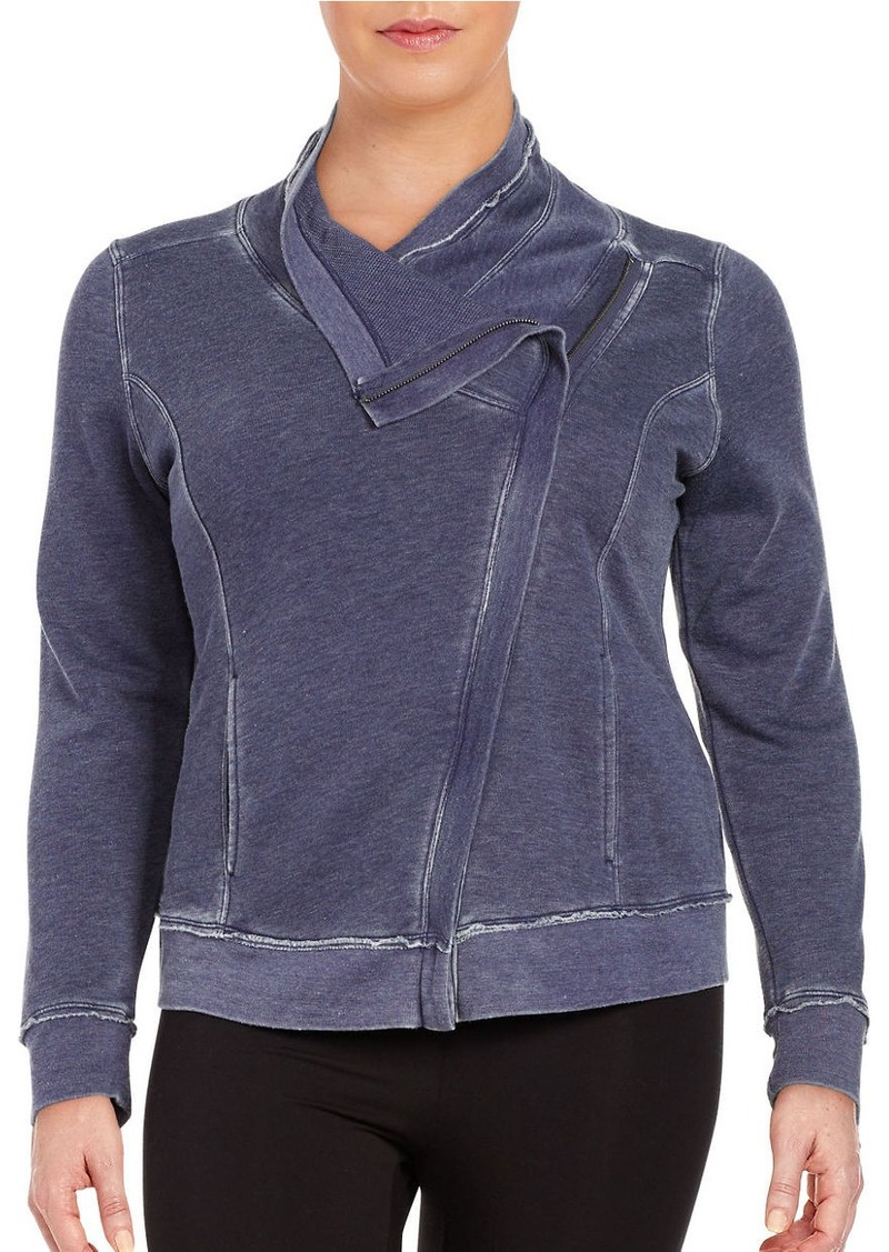 CALVIN KLEIN PERFORMANCE PLUS Asymmetrical Zip-Front Knit Jacket