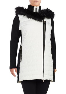 Calvin Klein Performance Plus Faux Fur-Trimmed Puffer Jacket