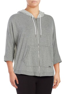 CALVIN KLEIN PERFORMANCE PLUS Hooded Zipfront Sweatshirt
