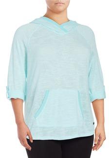 CALVIN KLEIN PERFORMANCE PLUS Roll-Tab Lightweight Sweatshirt