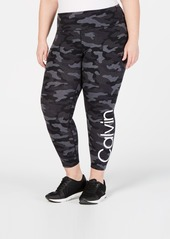 Calvin Klein Performance Plus Size Camo Leggings