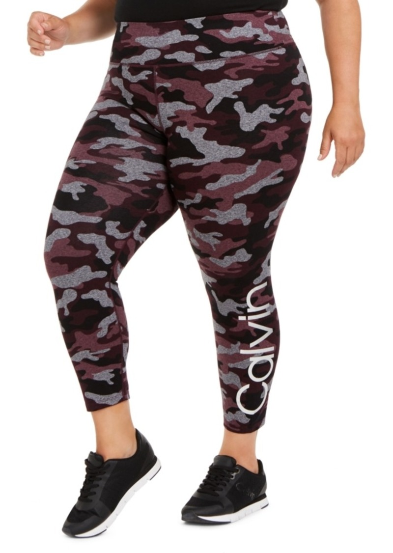 Calvin Klein Performance Plus Size Camo Leggings