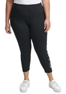 Calvin Klein Performance Plus Size Camo Logo 7/8 Leggings