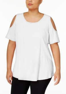 Calvin Klein Performance Plus Size Cold-Shoulder Top