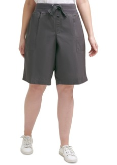 Calvin Klein Performance Plus Size Cotton Convertible Bermuda Shorts