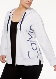 Calvin Klein Performance Plus Size Cotton Logo Hoodie