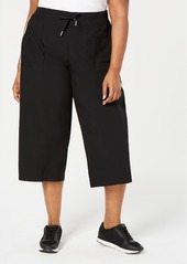 Calvin Klein Performance Plus Size Cropped Wide-Leg Pants