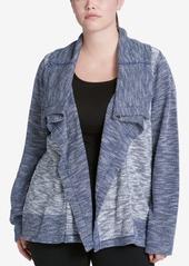 Calvin Klein Performance Plus Size Draped Knit Jacket