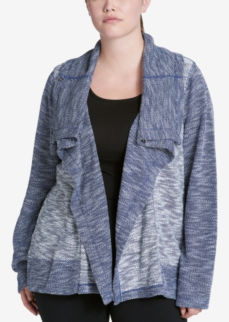 Calvin Klein Performance Plus Size Draped Knit Jacket