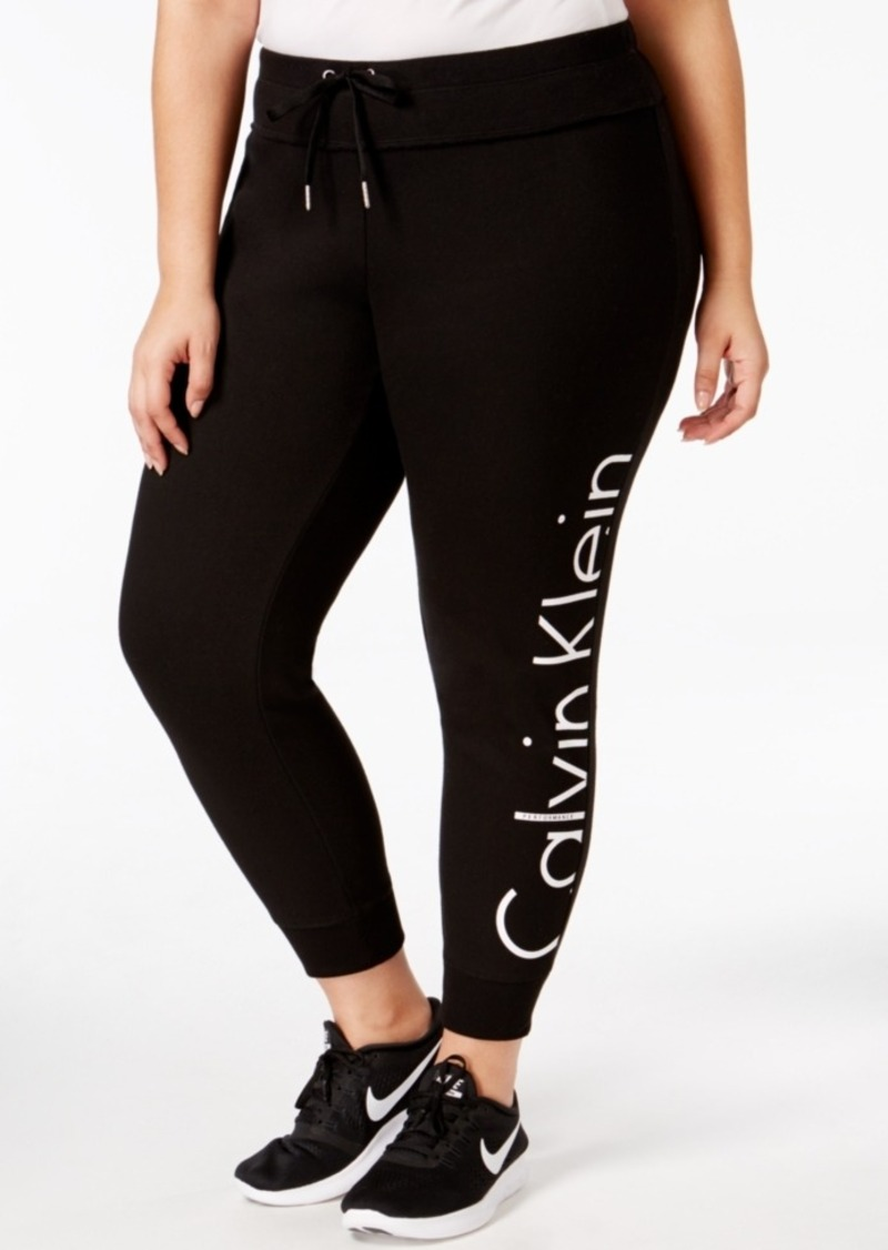Calvin Klein Performance Plus Size Fleece Logo Jogger Pants