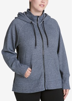 Calvin Klein Performance Plus Size High-Collar Logo Hoodie