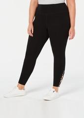 Calvin Klein Performance Plus Size High-Rise Lace-Up Leggings