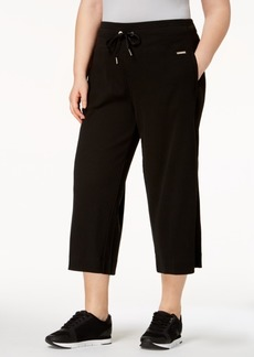 Calvin Klein Performance Plus Size High-Waist Wide-Leg Culottes