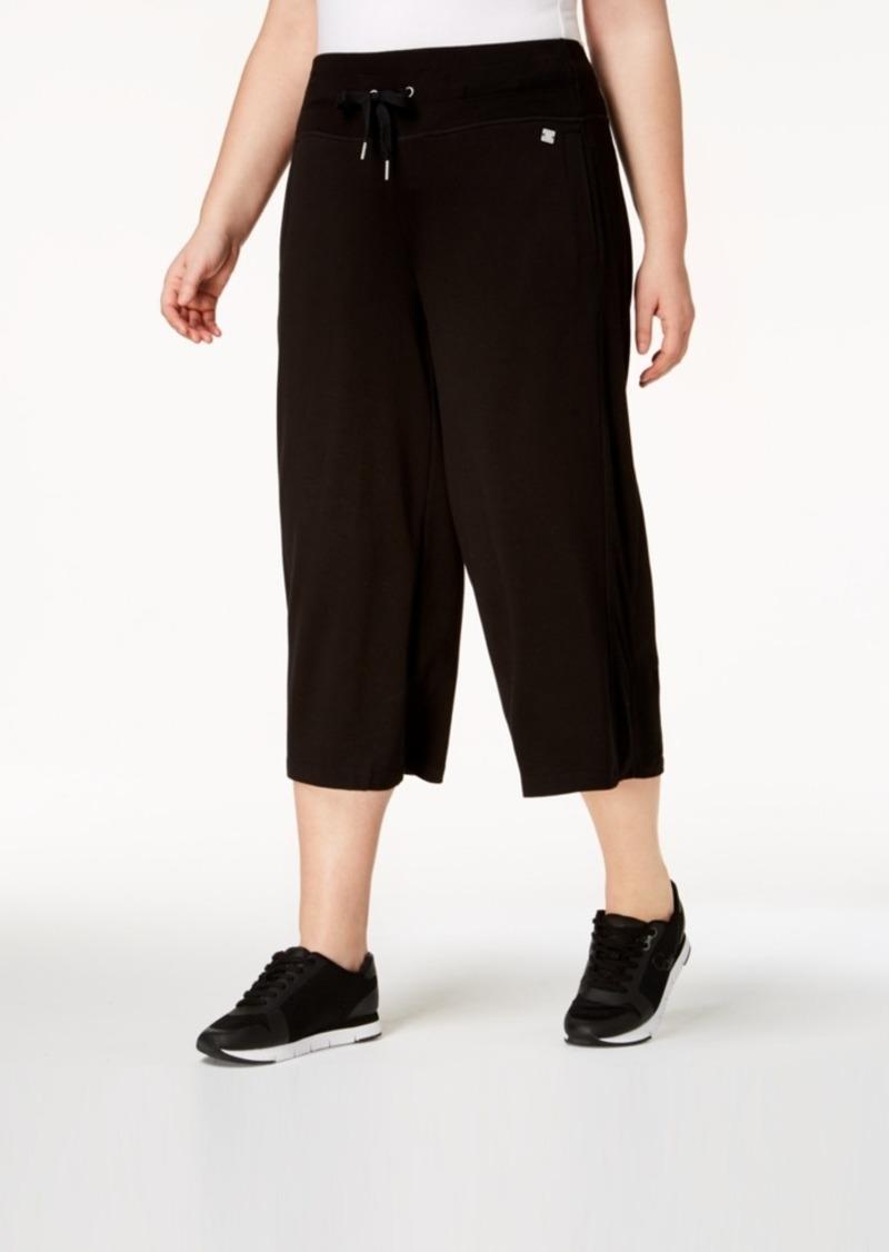 b24aed84df2 Calvin Klein Calvin Klein Performance Plus Size High-Waist Wide-Leg ...