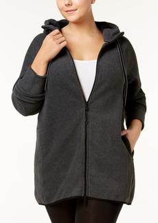 Calvin Klein Performance Plus Size Hooded Logo Jacket