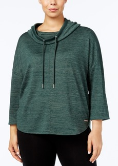 Calvin Klein Performance Plus Size Hooded Top
