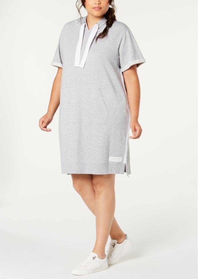 Calvin Klein Performance Plus Size Hoodie Dress