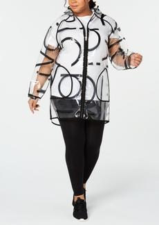 Calvin Klein Performance Plus Size Logo Rain Jacket