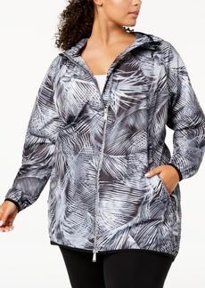 Calvin Klein Performance Plus Size Printed Hooded Jacket