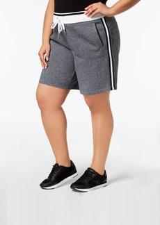 Calvin Klein Performance Plus Size Ribbed-Waistband Shorts