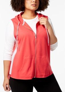 Calvin Klein Performance Plus Size Sleeveless Zip Hoodie