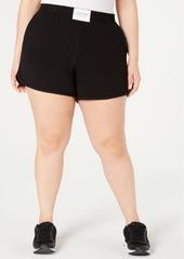 Calvin Klein Performance Plus Size Smocked-Waistband Shorts