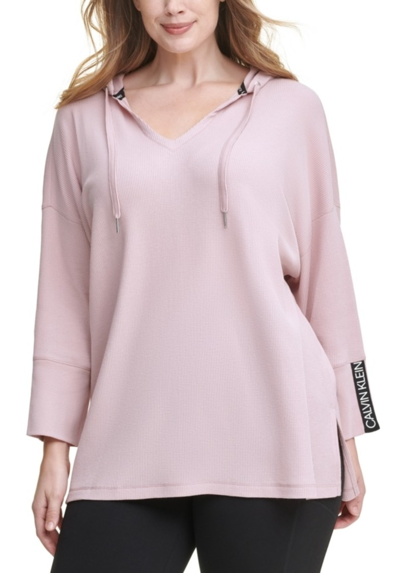 Calvin Klein Performance Plus Size Thermal Hooded Top