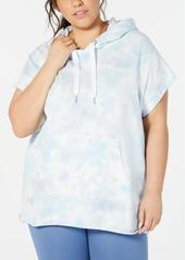 Calvin Klein Performance Plus Size Tie Dye Short-Sleeve Hoodie
