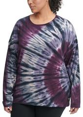 Calvin Klein Performance Plus Size Tie-Dyed Sweatshirt