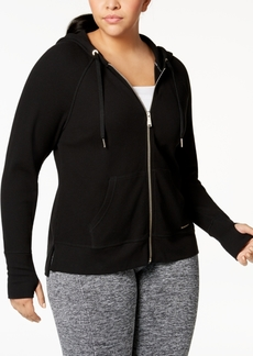 Calvin Klein Performance Plus Size Zip Thermal Hoodie