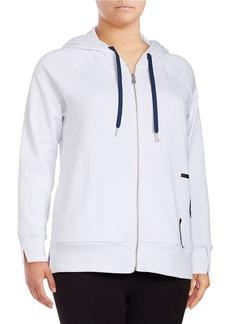 CALVIN KLEIN PERFORMANCE PLUS Zip-Front Logo Hoodie